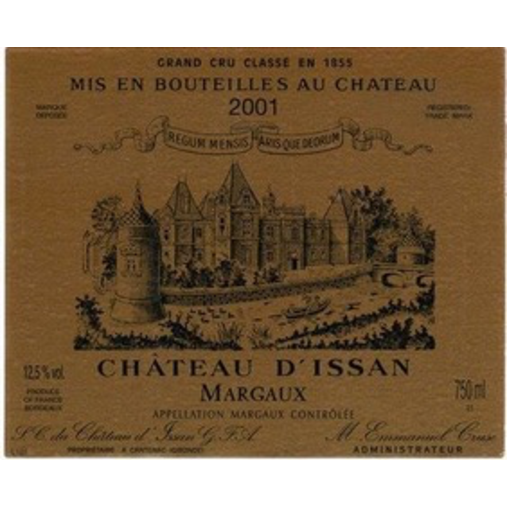 Wine Chateau d'Issan Margaux 2001