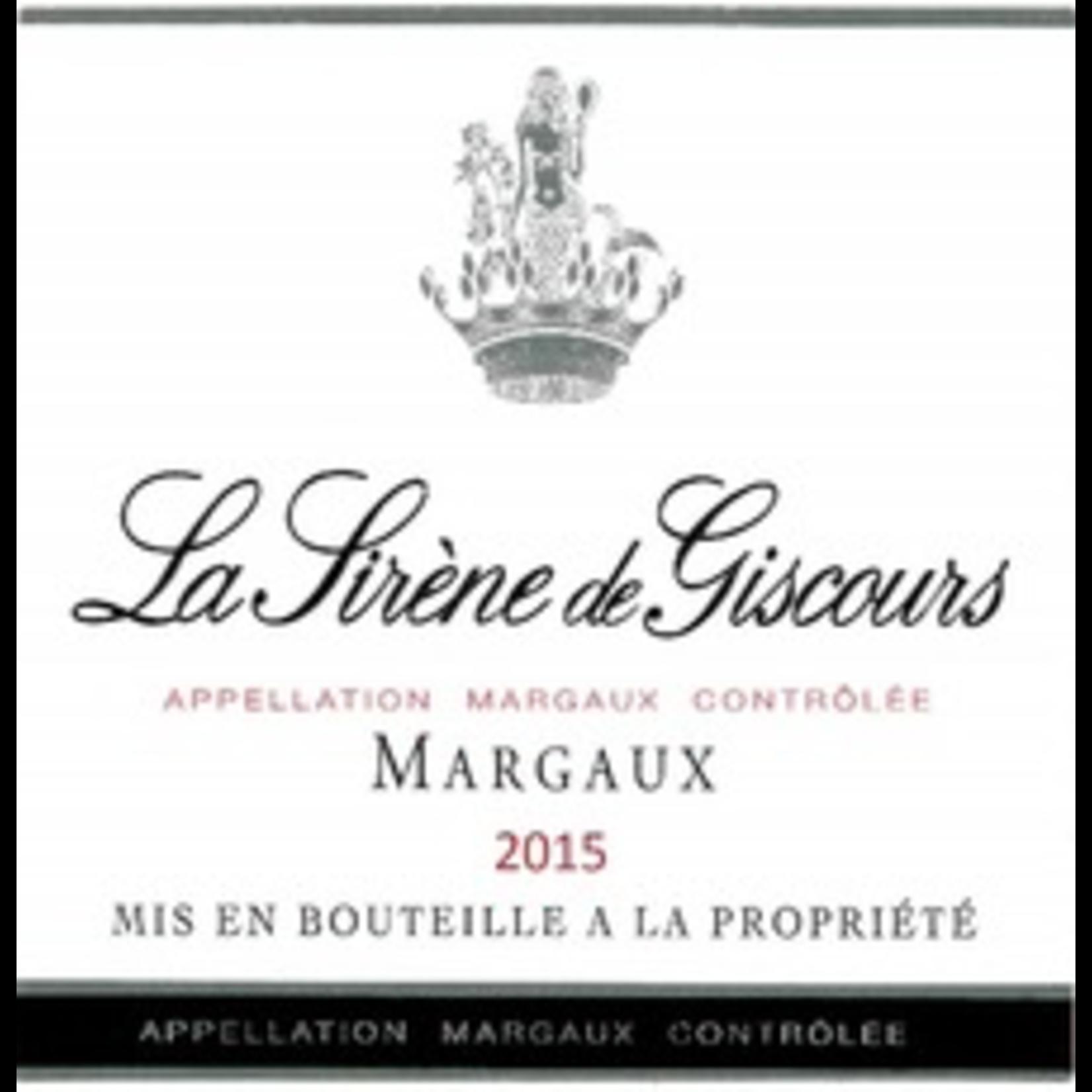 Wine La Sirene de Giscours Margaux 2015