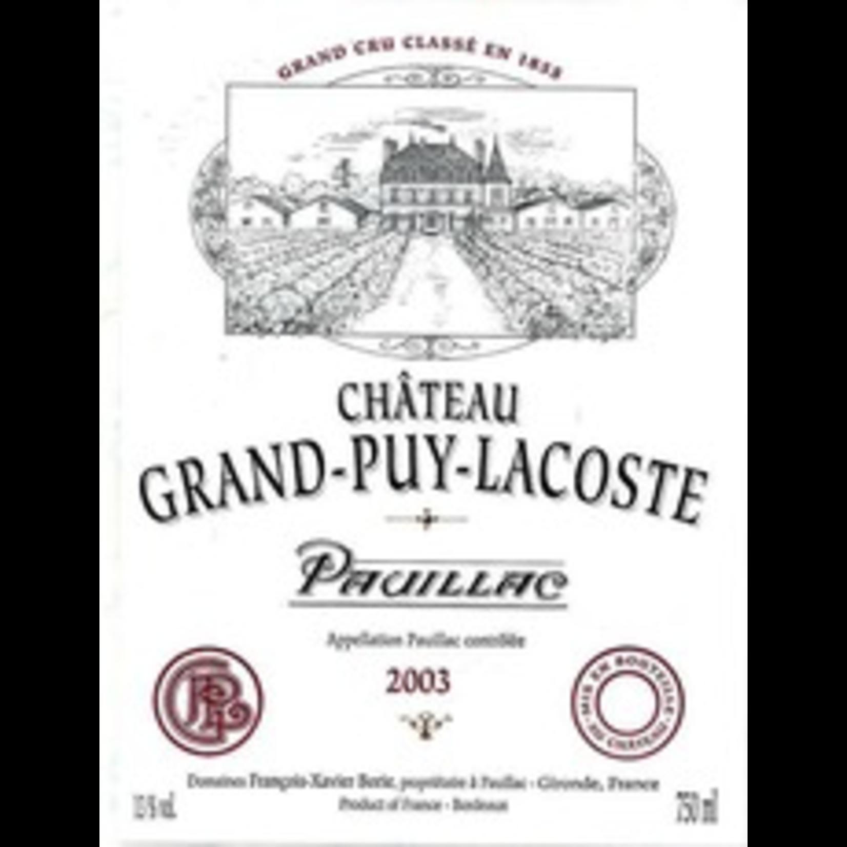 Wine Grand Puy Lacoste 2003