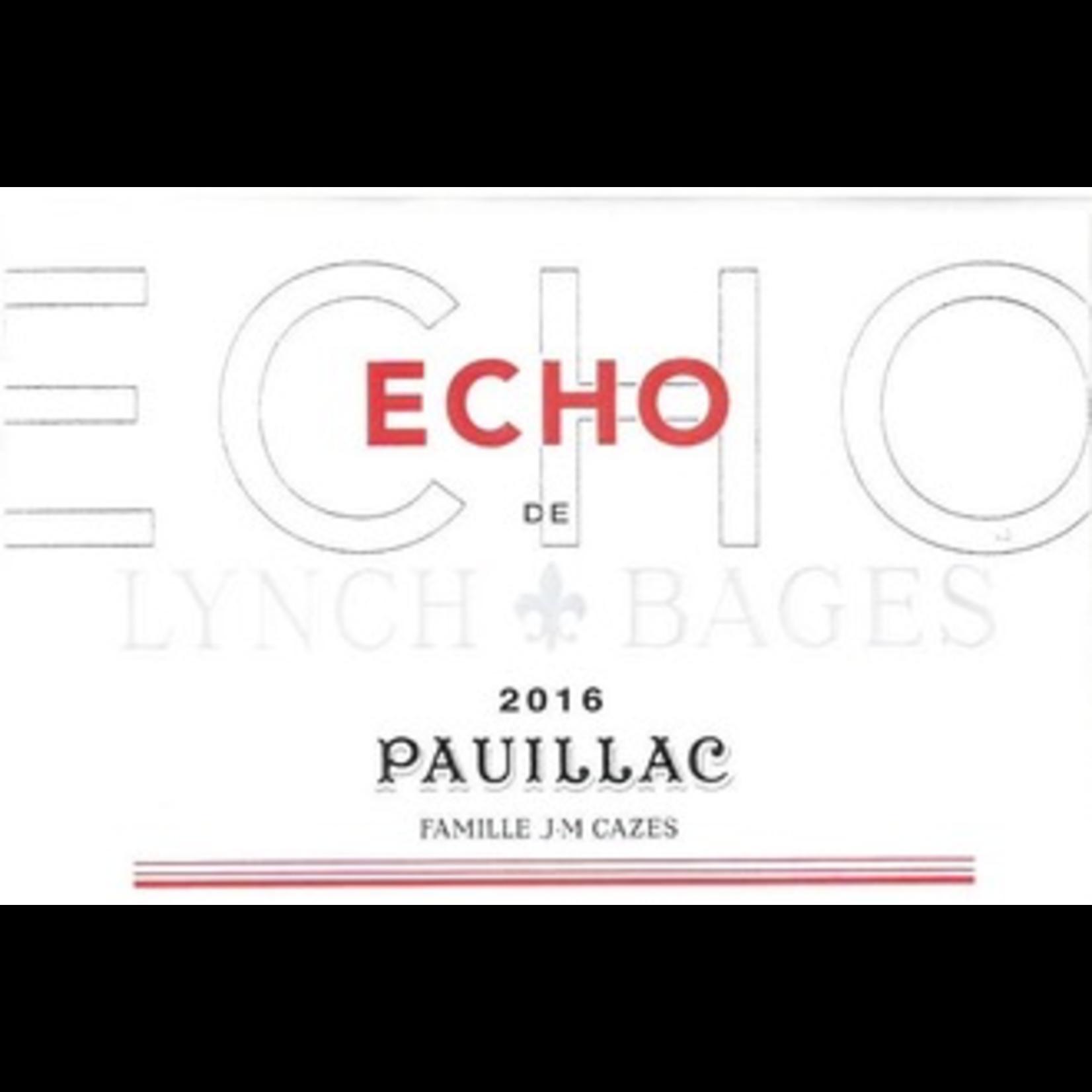 Wine Chateau Echo de Lynch Bages 2018 375ML