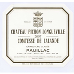 Chateau Pichon Longueville Comtesse de Lalande 2007