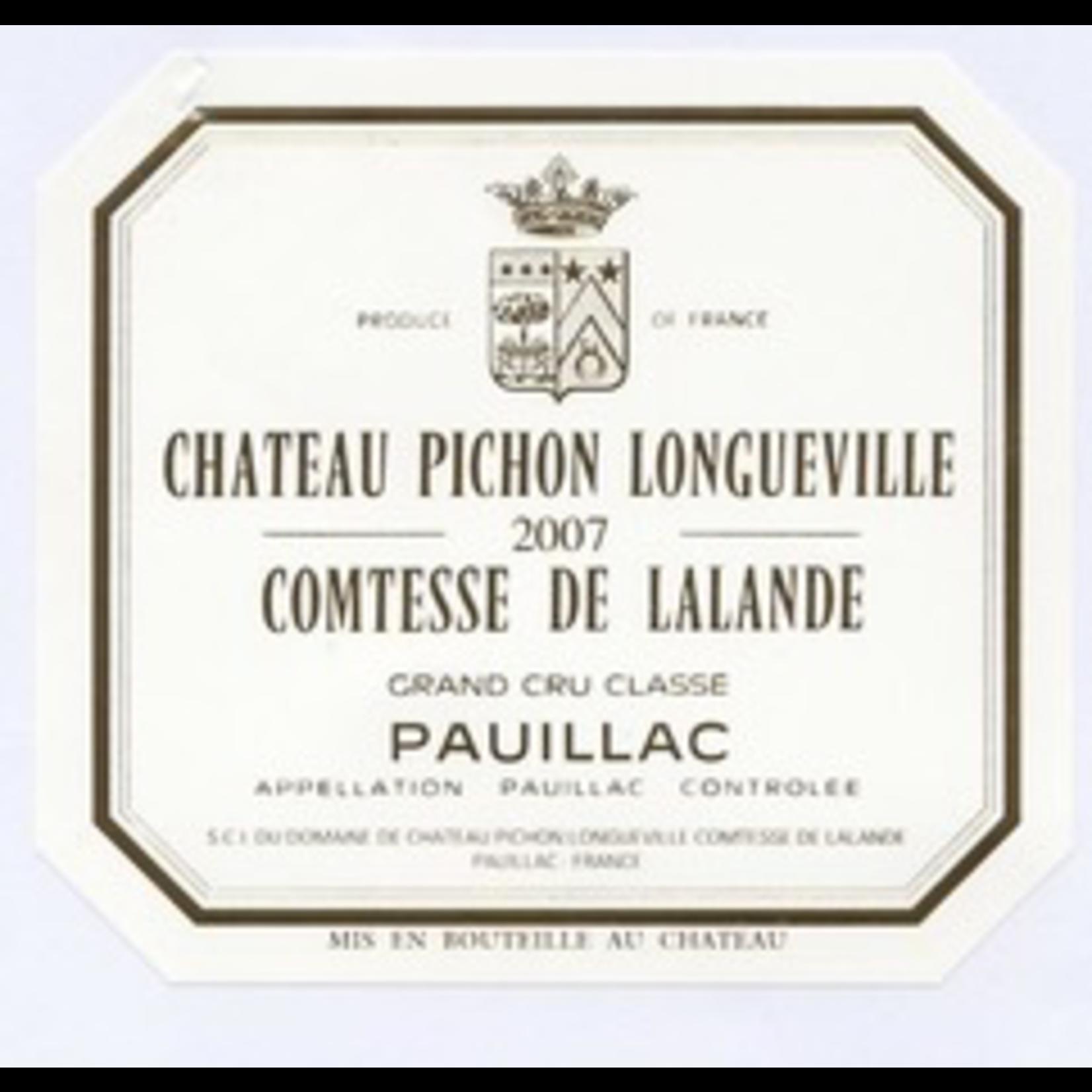 Wine Chateau Pichon Longueville Comtesse de Lalande 2007