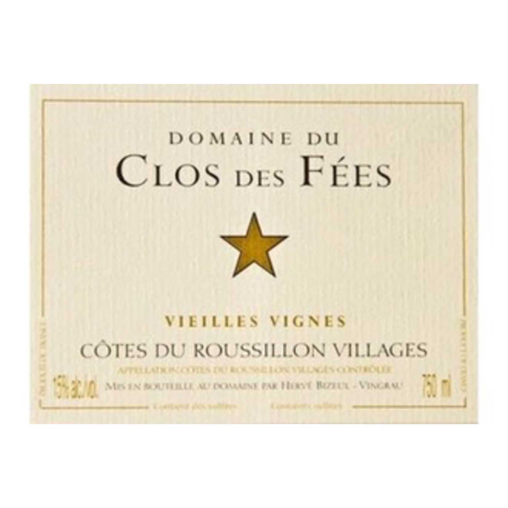 Wine Clos des Fees Vieilles Vignes  2016
