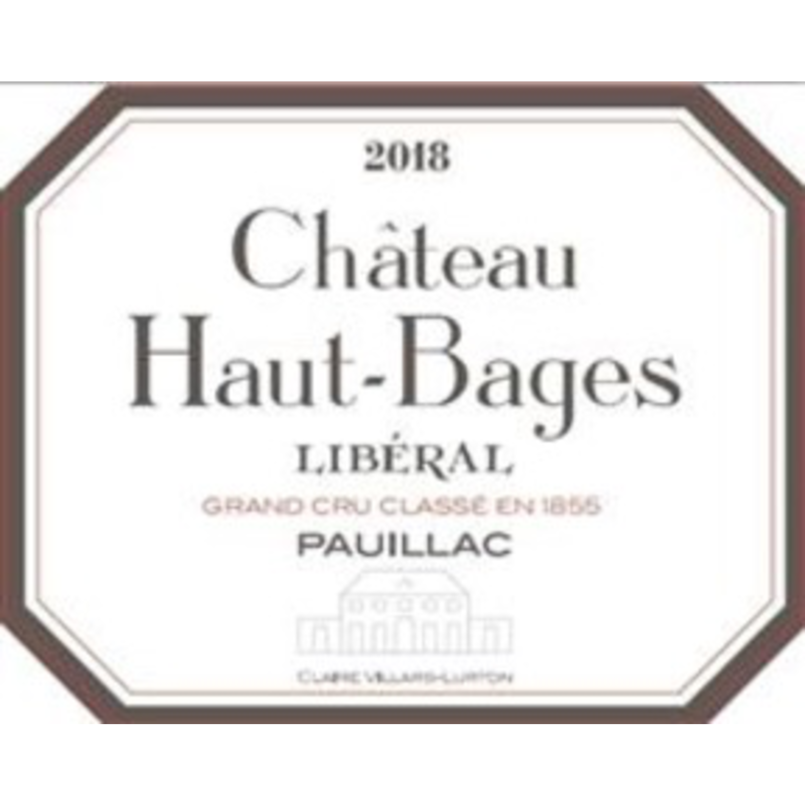 Wine Ch Haut Bages Liberal 2018