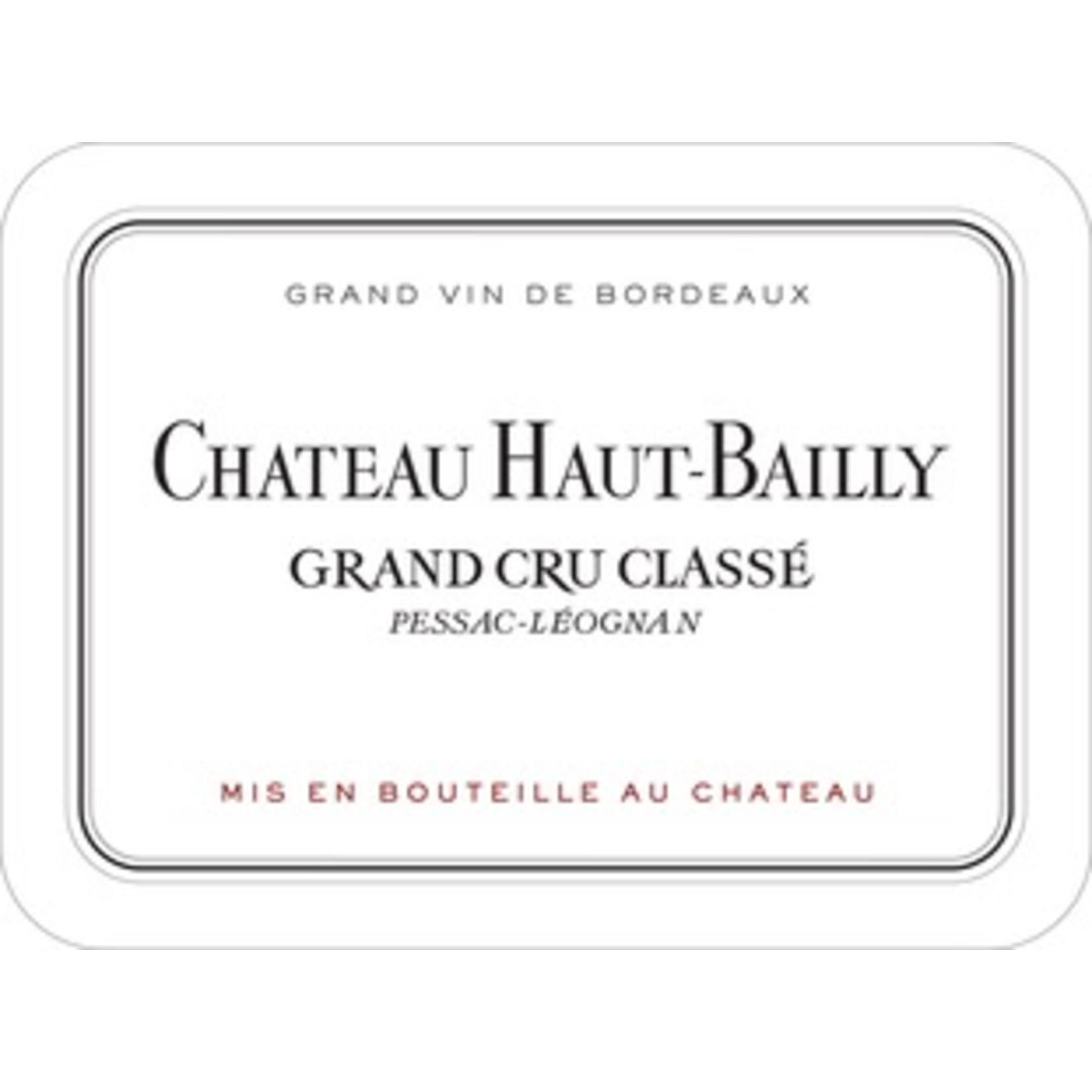 Wine Ch Haut Bailly 2018