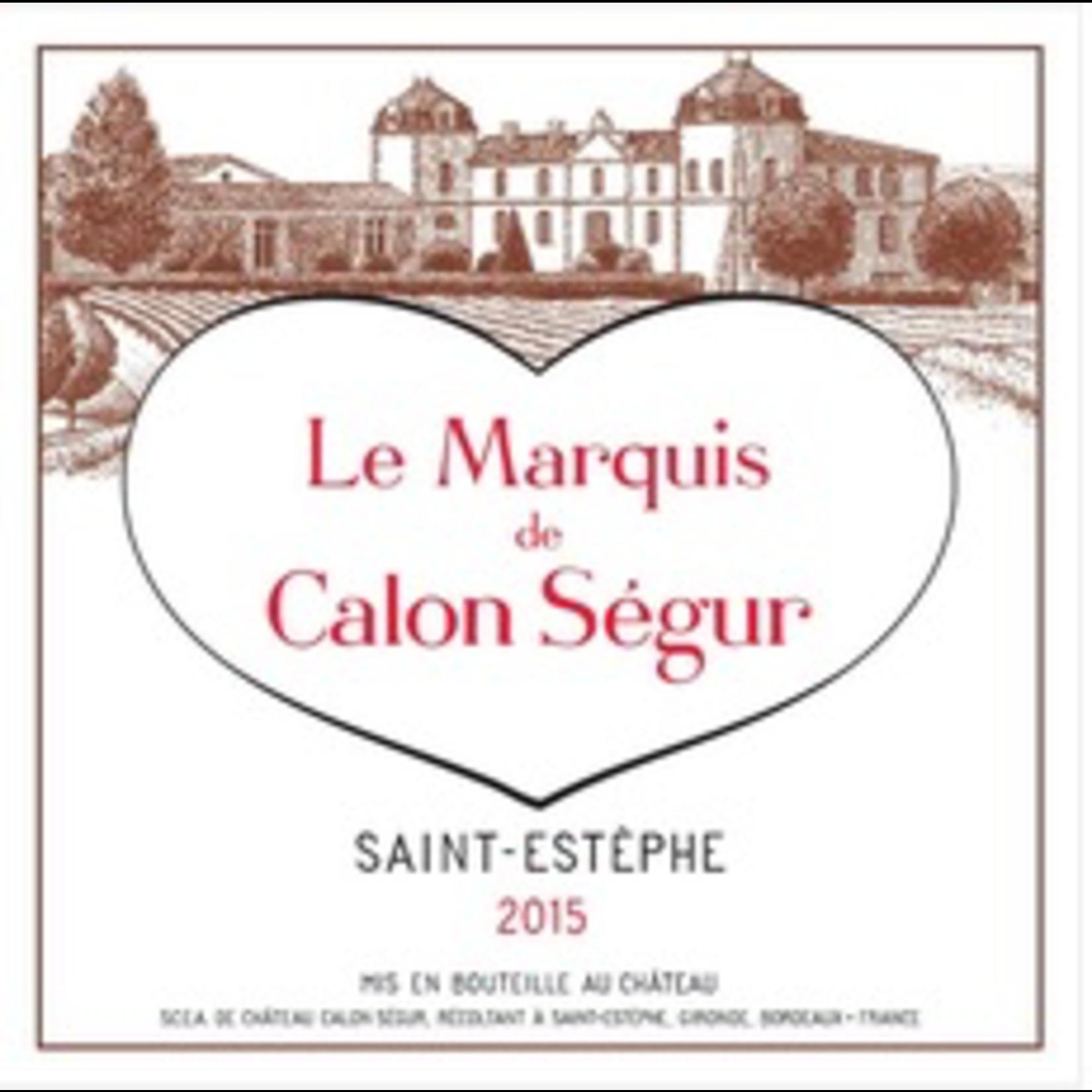 Wine Le Marquis de Calon Segur 2018