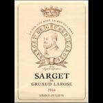 Wine Sarget de Gruaud Larose 2018