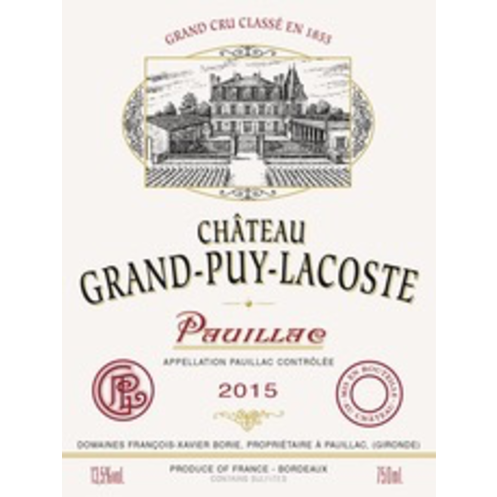 Wine Chateau Grand Puy Lacoste 2018