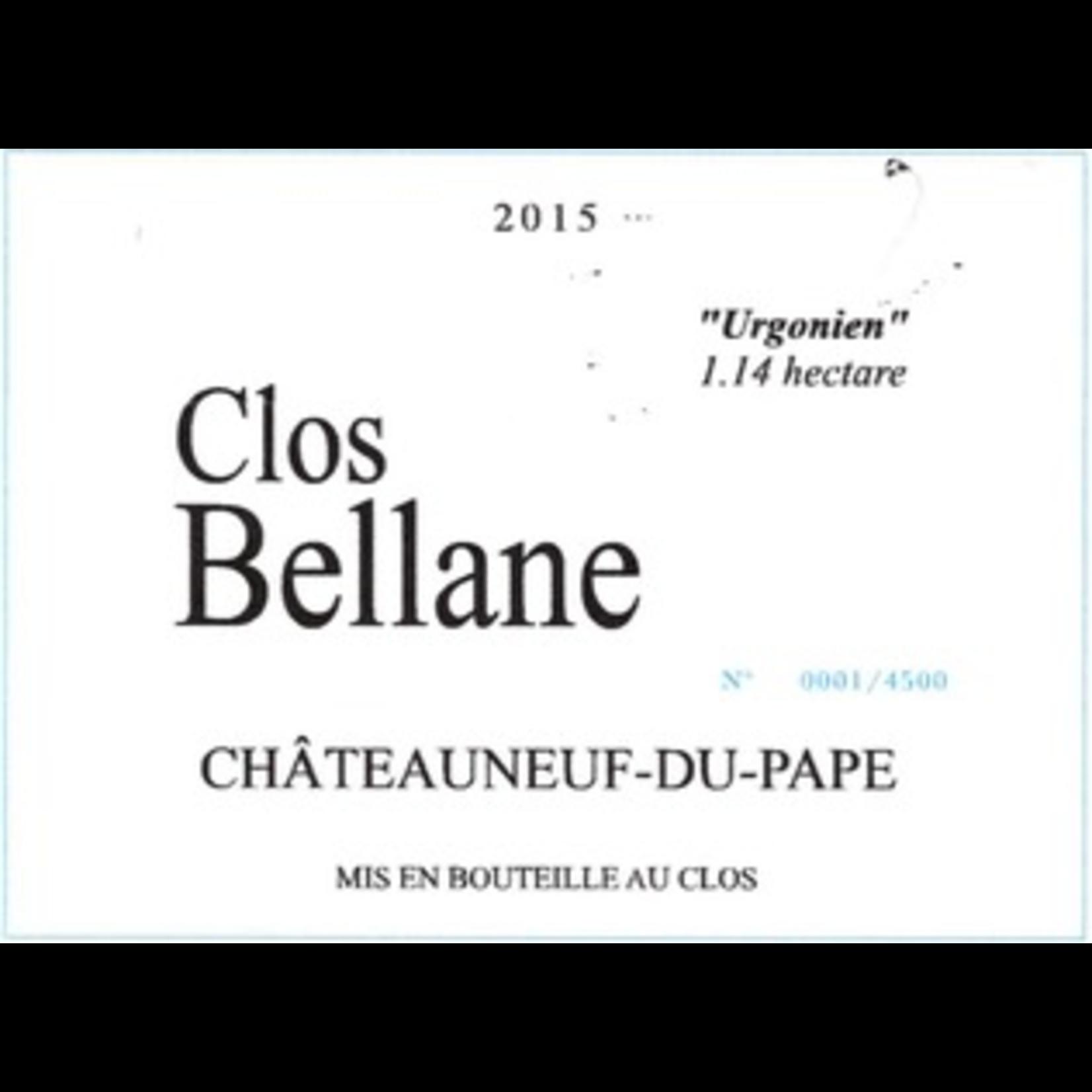 Clos Bellane Chateauneuf du Pape Urgonien 1.14 hectare 2016