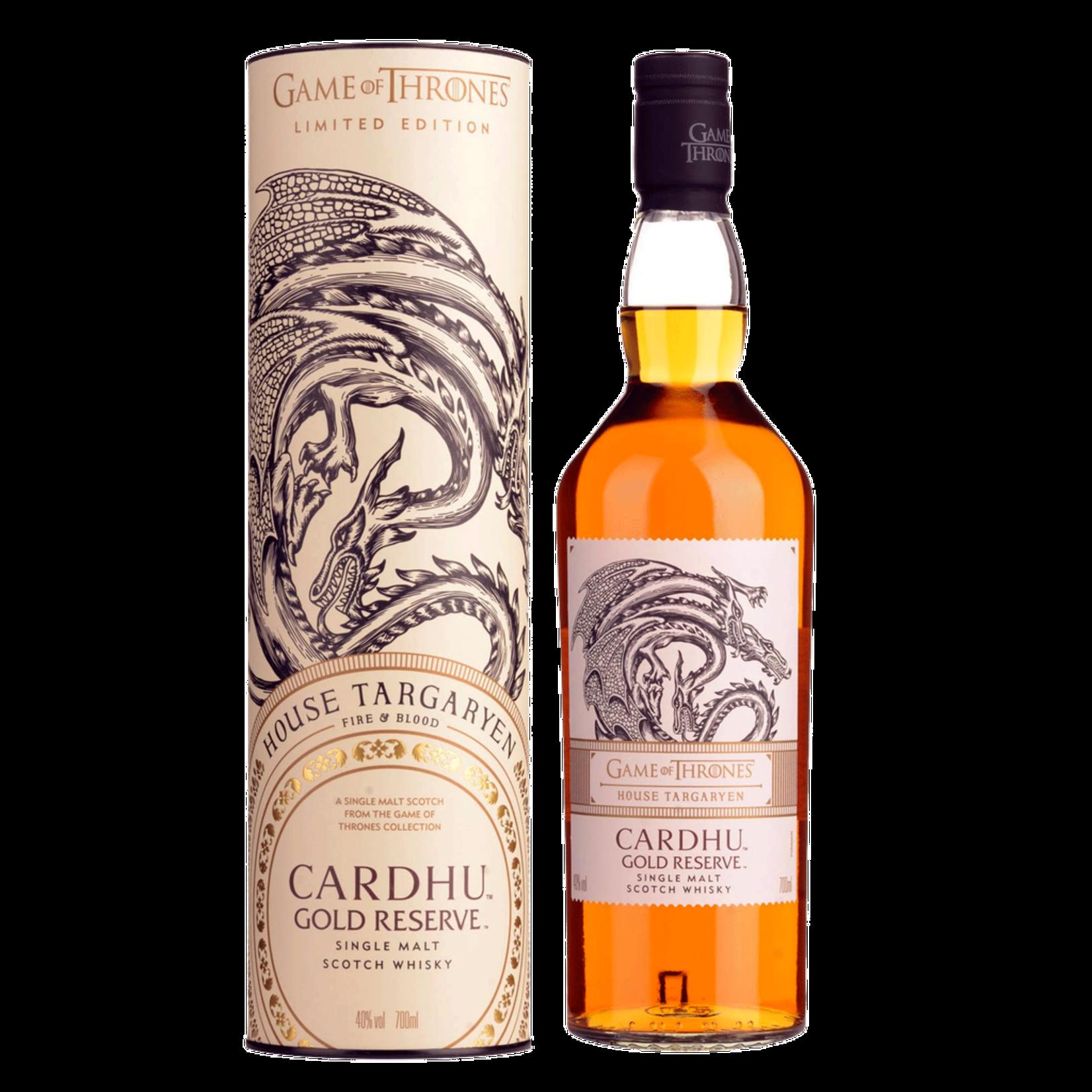 Spirits Game of Thrones House Targaryen Cardhu Gold Reserve Limited Edition Single Malt Scotch