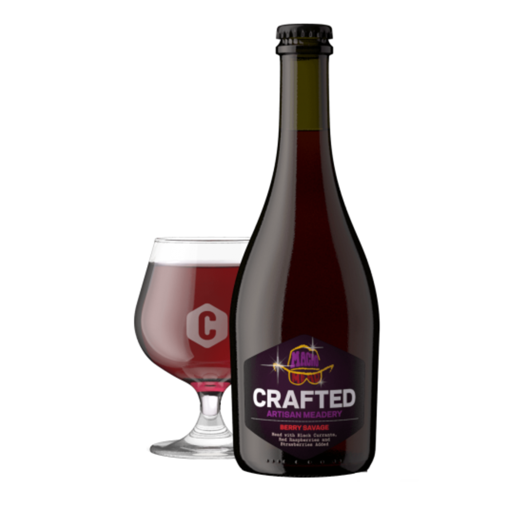 Sparkling Macho Mead Berry Savage Mead 500ml