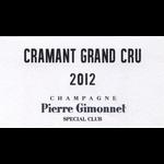 Sparkling Pierre Gimonnet & Fils Champagne Grand Cru Brut Special Club Cramant 2012