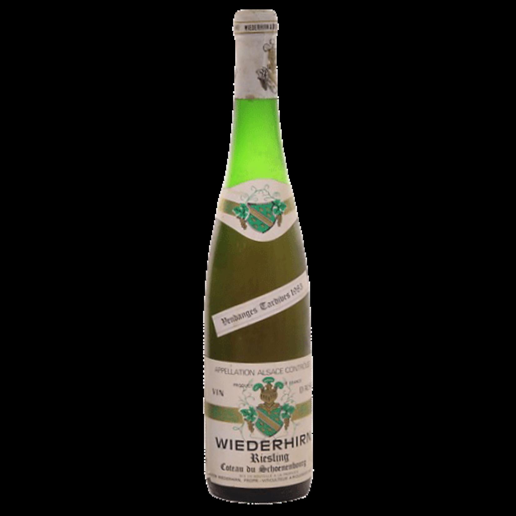 Wine Wiederhirn Riesling Alsace Vendanges Tardives 1983