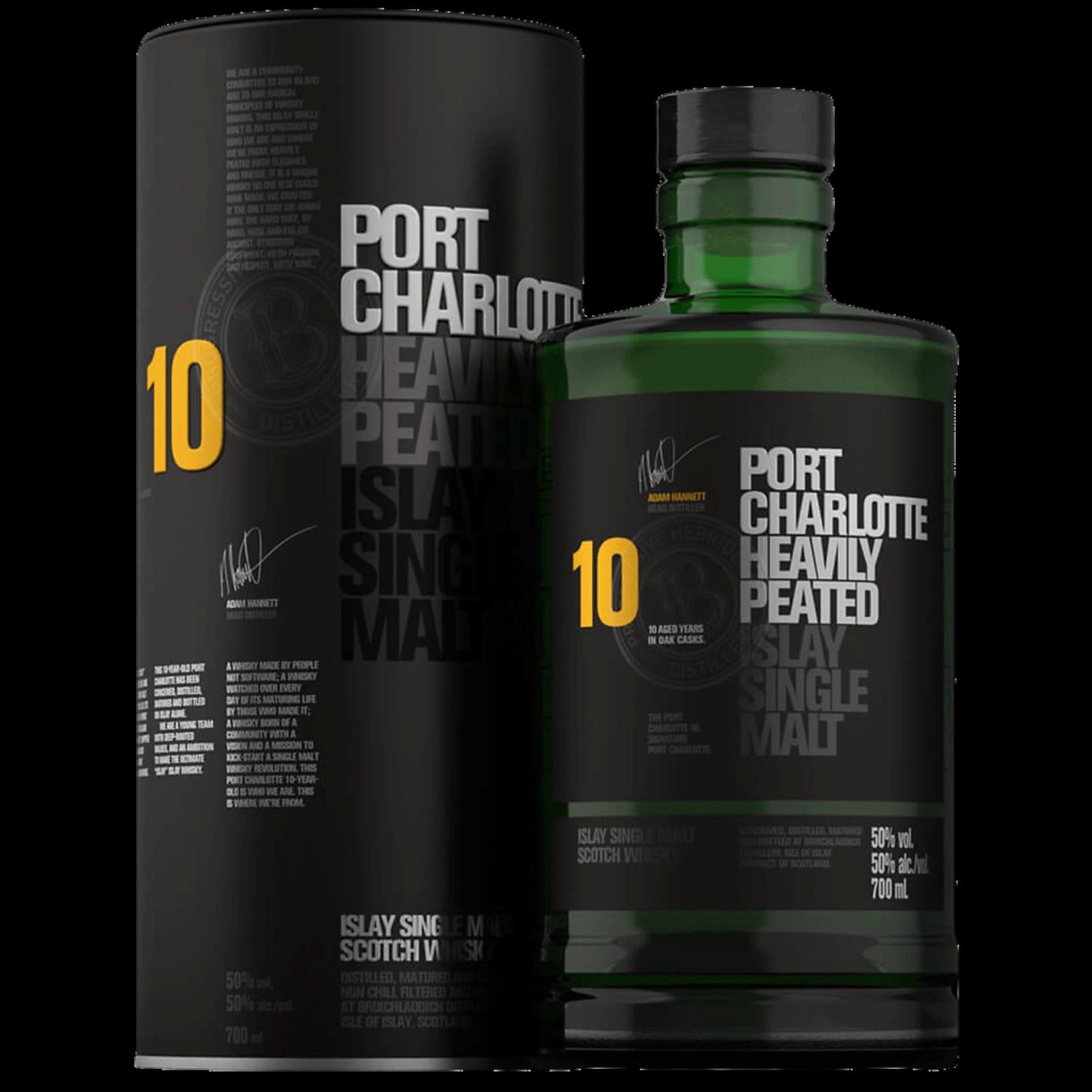 Spirits Bruichladdich Single Malt Scotch Port Charlotte 10 Year Heavily Peated