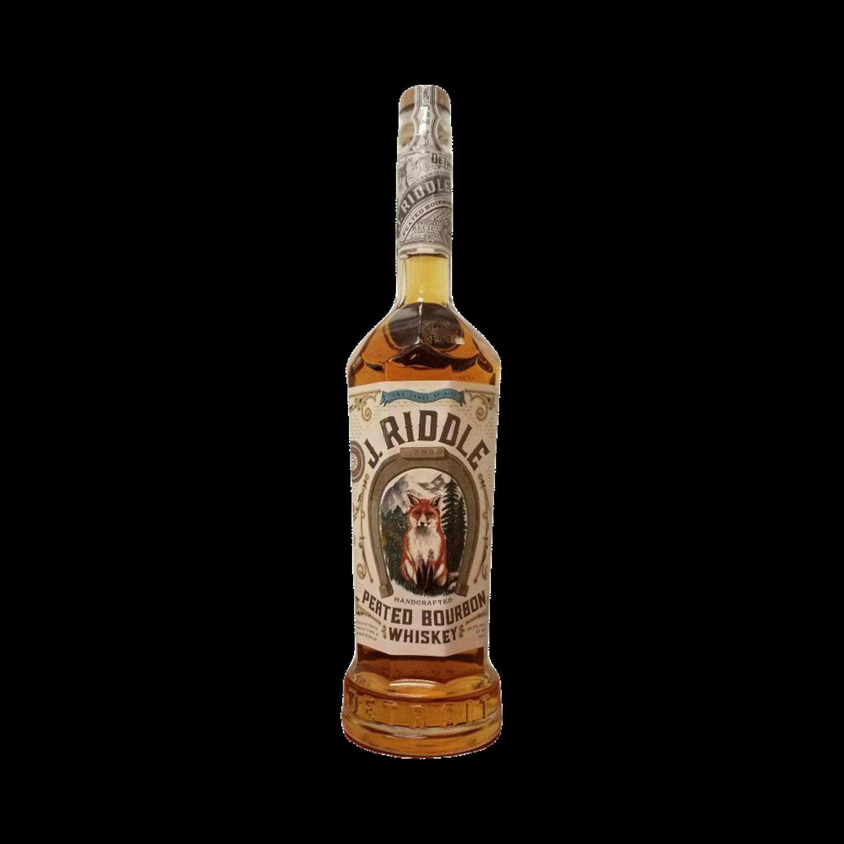 Spirits Two James Spirits J. Riddle Peated Bourbon Whiskey