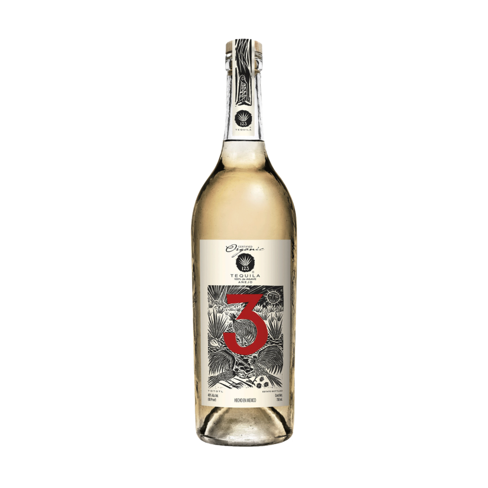 Spirits 123 Organic Tequila #3 Tres Anejo Tequila