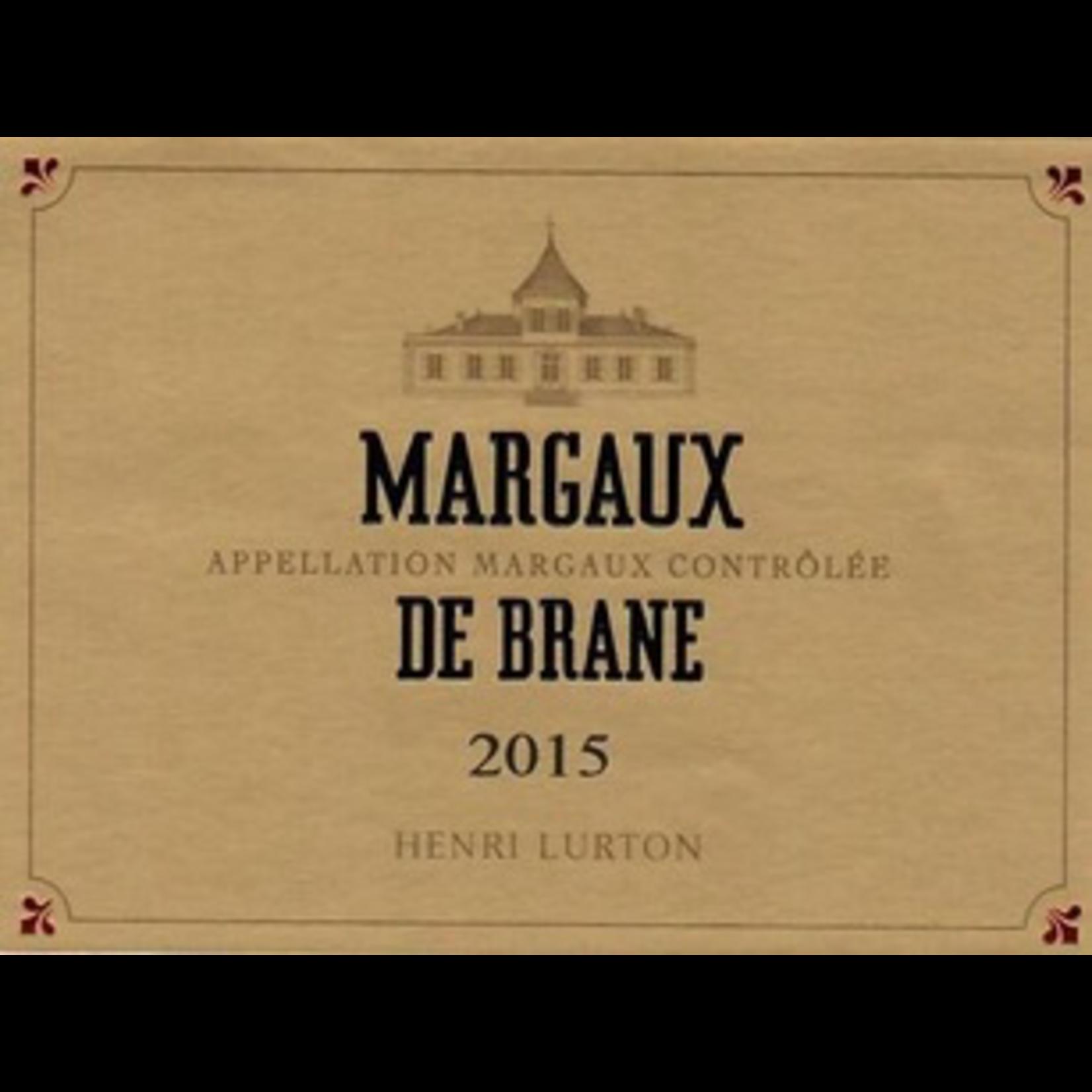 Wine Chateau Brane Cantenac Margaux de Brane 2015