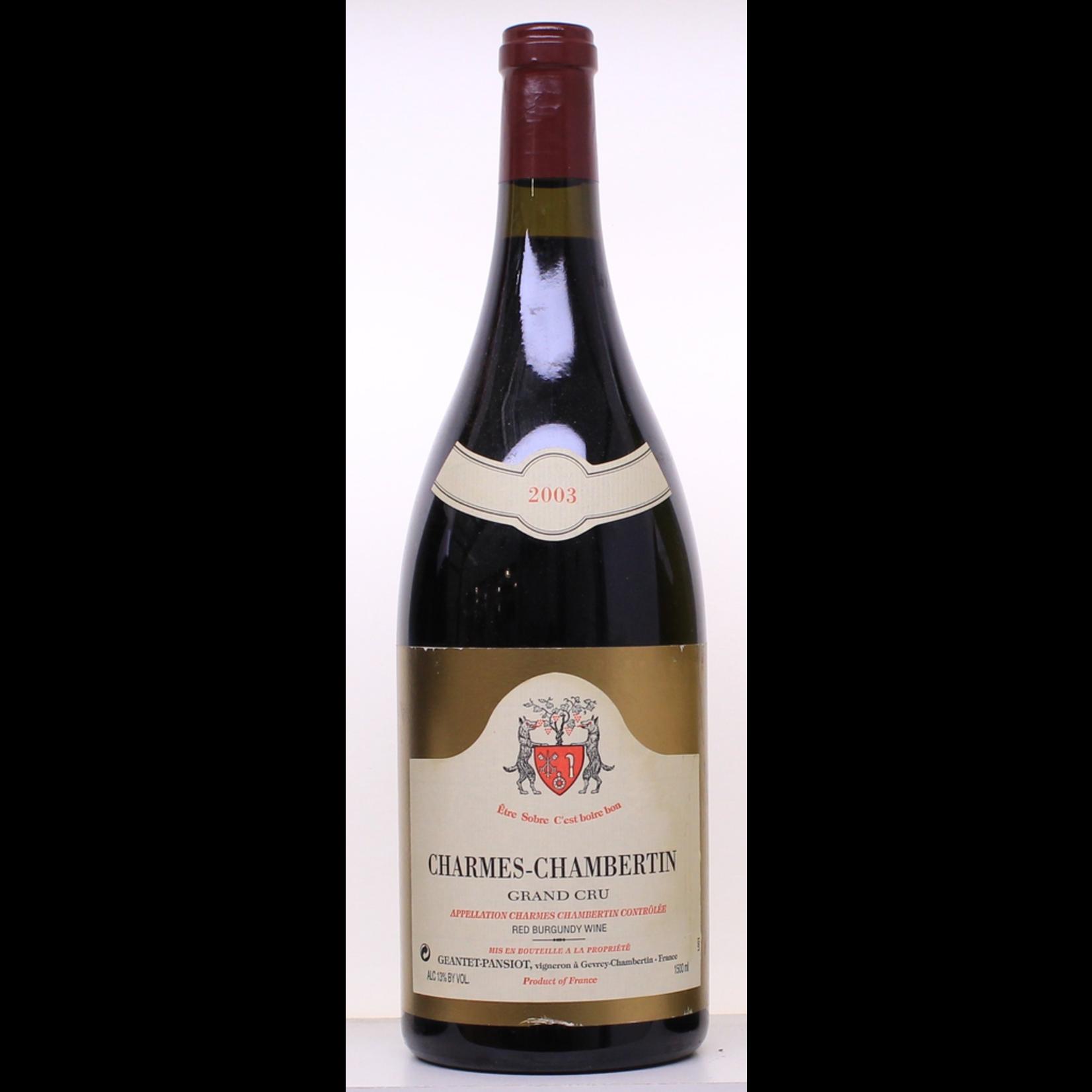 Wine Geantet-Pansiot Charmes Chambertin Grand Cru 2003 1.5L