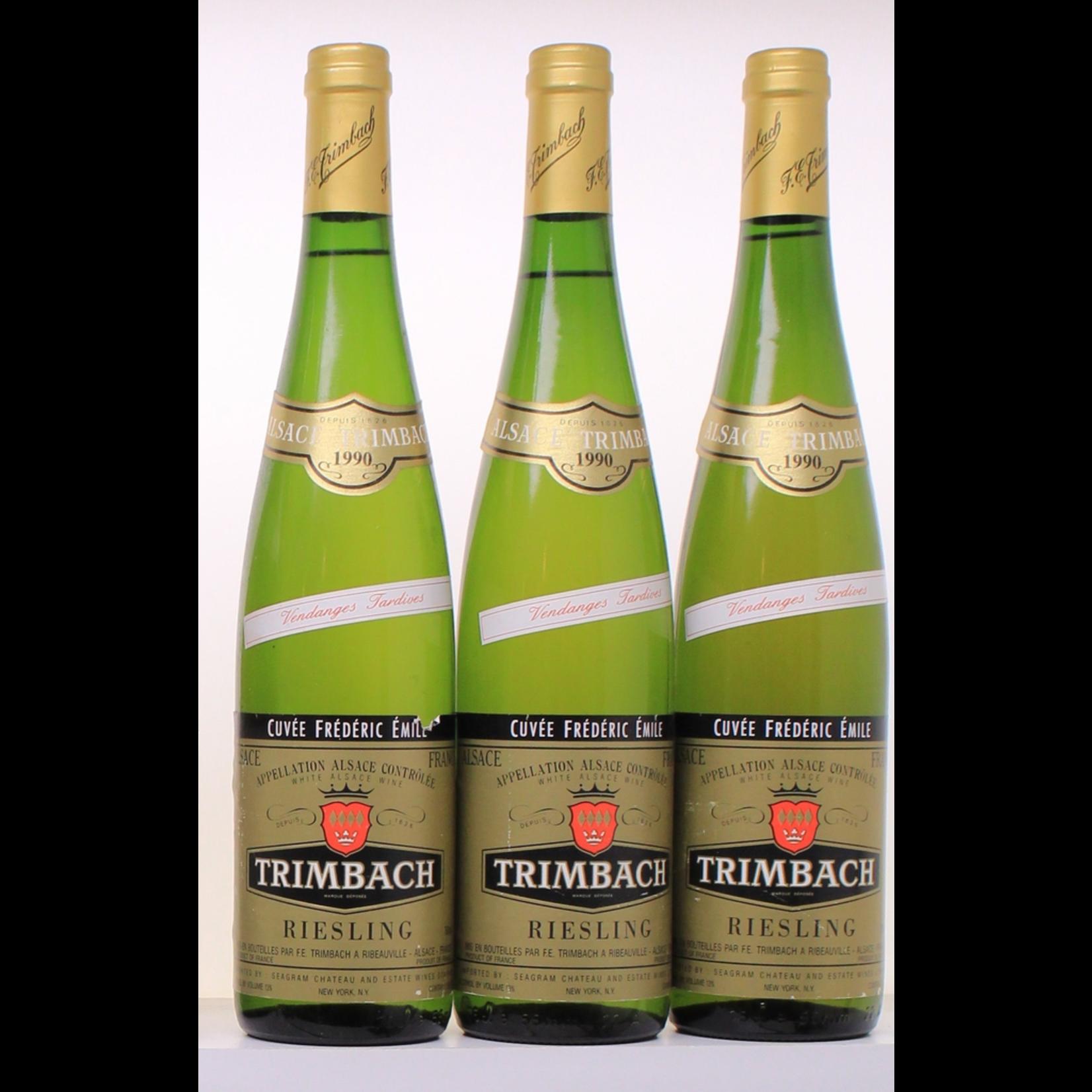 Wine Trimbach Riesling Cuvee Frederic Emile Vendanges Tardives 1990