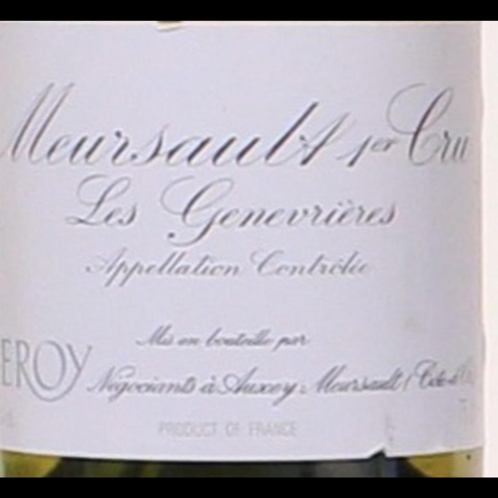 Domaine Leroy Meursault Genevrieres Premier Cru 1985