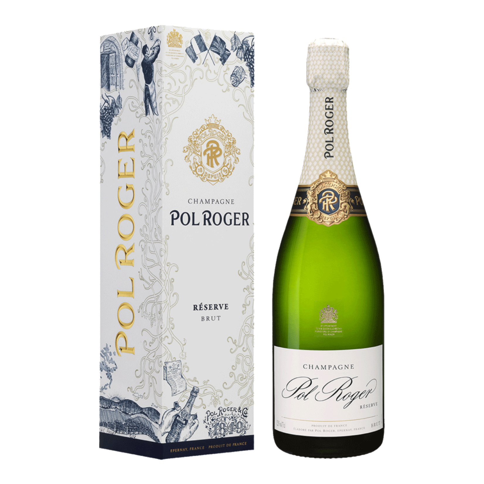 Pol Roger Champagne NV Brut Gift Box