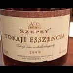 Wine Szepsy Tokaji Esszencia 1999 375ml