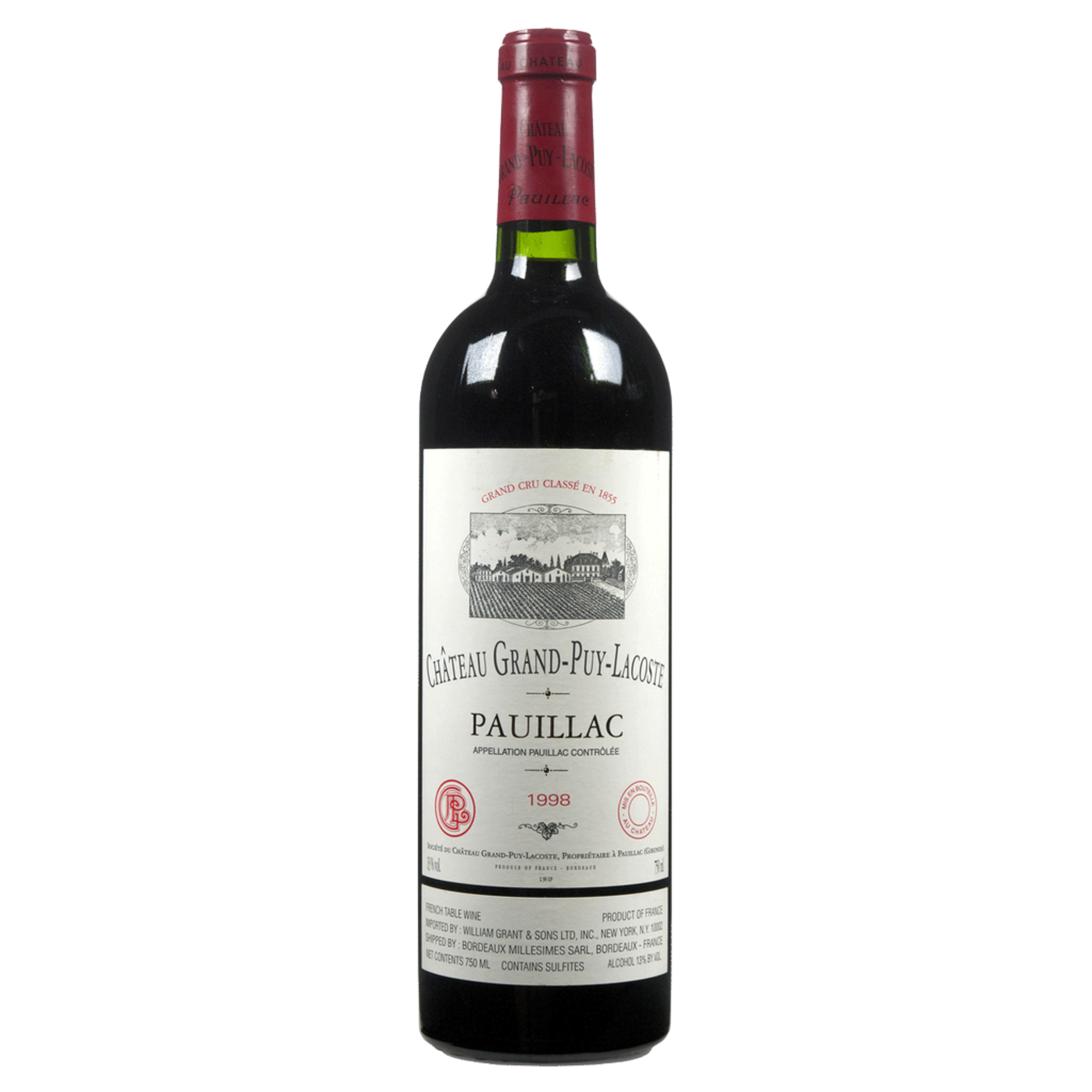 Wine Chateau Grand Puy Lacoste 1998
