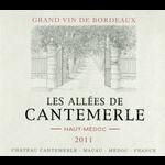 Wine Les Allees de Cantemerle Haut-Medoc 2011