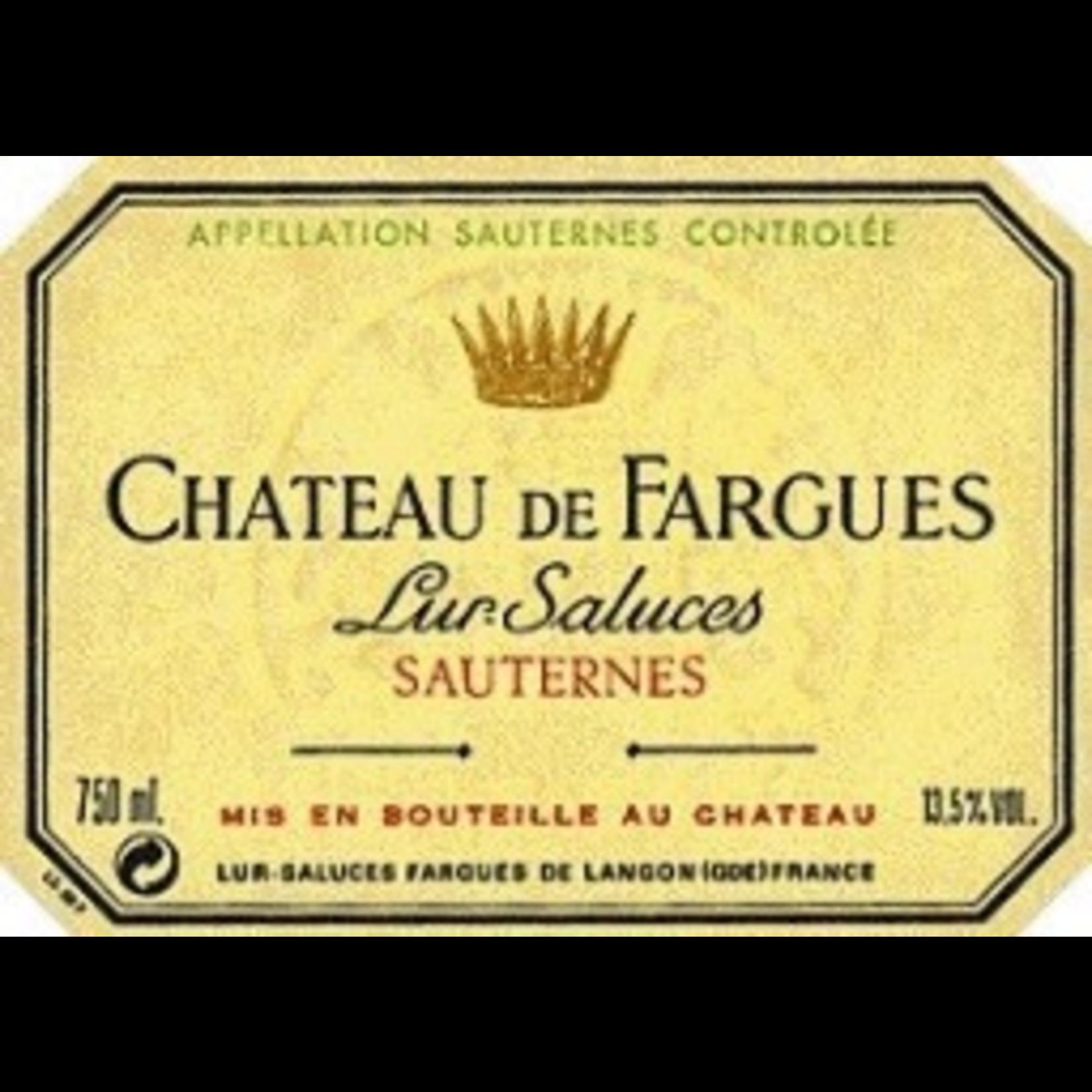 Wine Chateau de Fargues Sauternes 1990