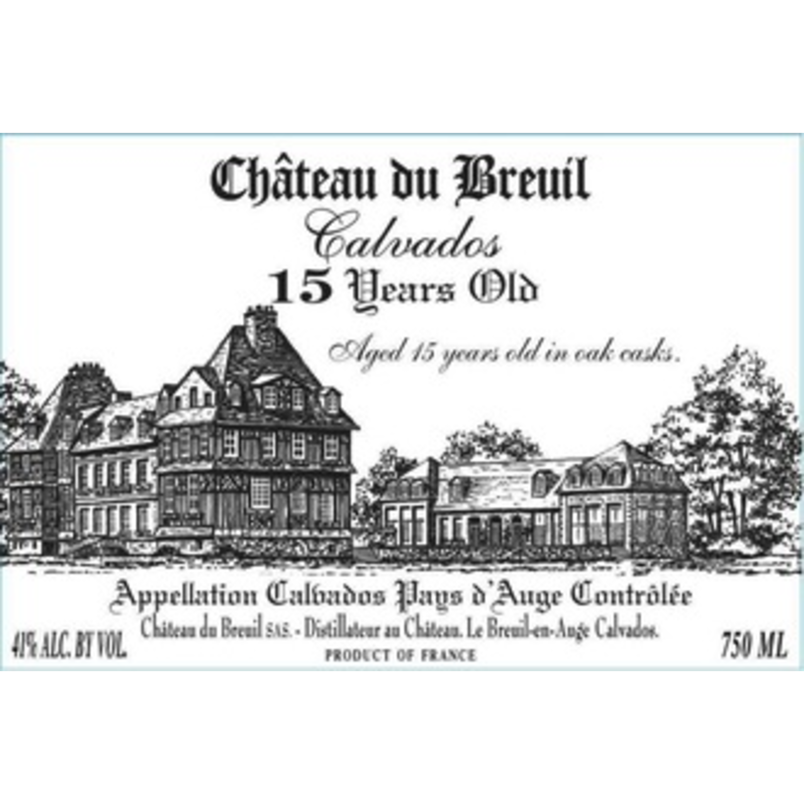 Spirits Chateau du Breuil Calvados 15 Years Old Pays d'Auge