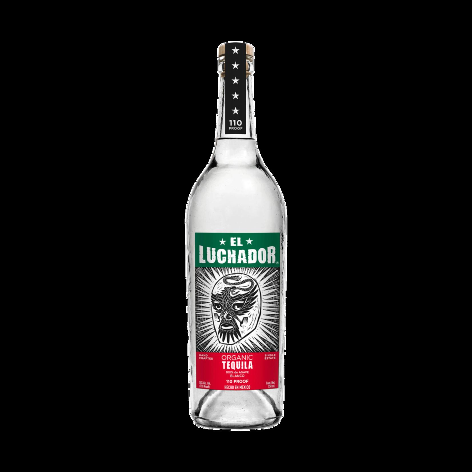 Spirits 123 Organic Tequila El Luchador Blanco Tequila 110 Proof