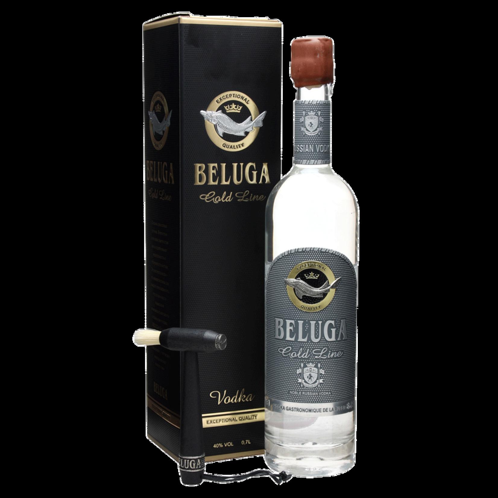 Spirits Beluga Vodka Russian Gold Line Leather