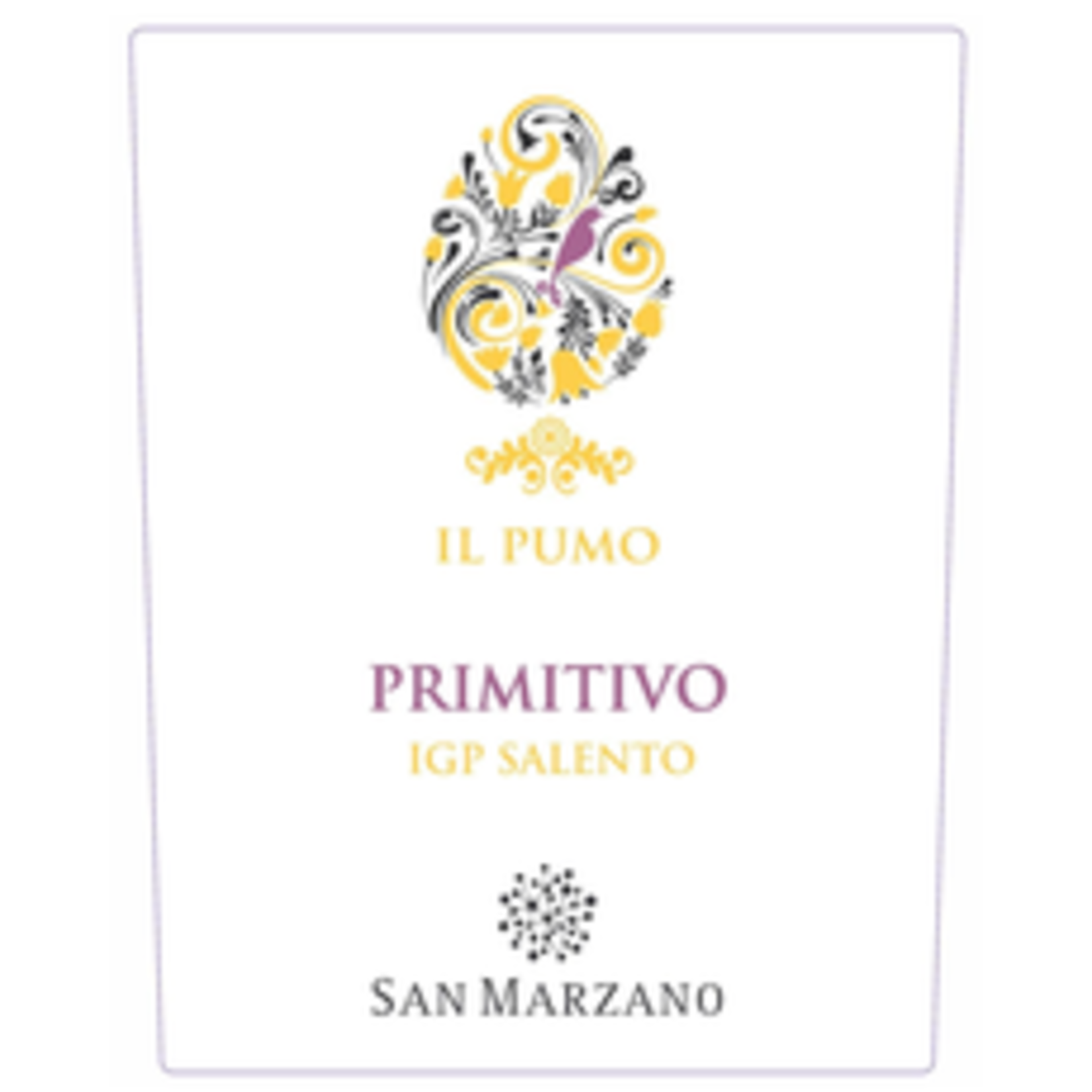 Wine Cantine San Marzano, Il Pumo Salento Primitivo 2019