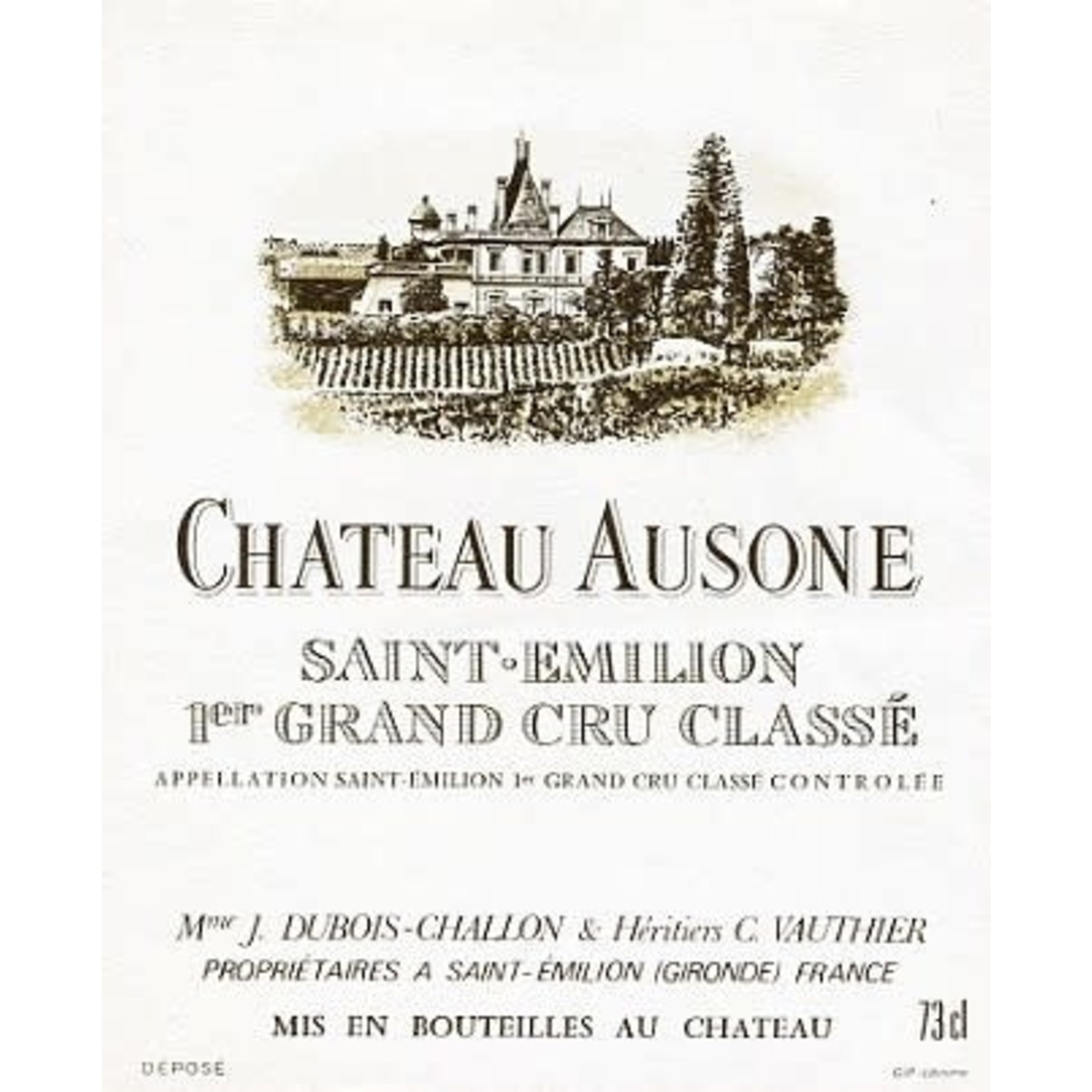Wine Chateau Ausone Saint Emilion 1986