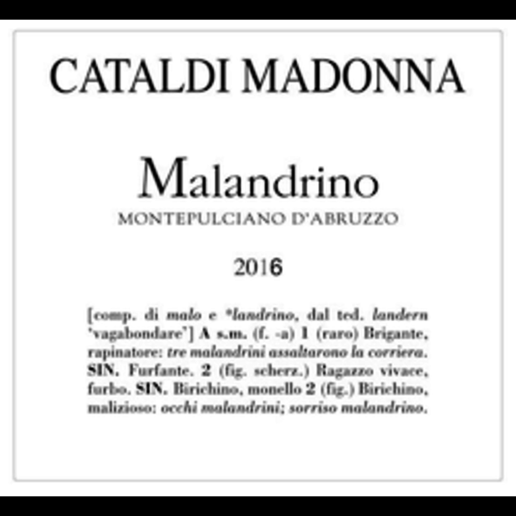 Wine Cataldi Madonna Montepulciano d'Abruzzo Malandrino 2018
