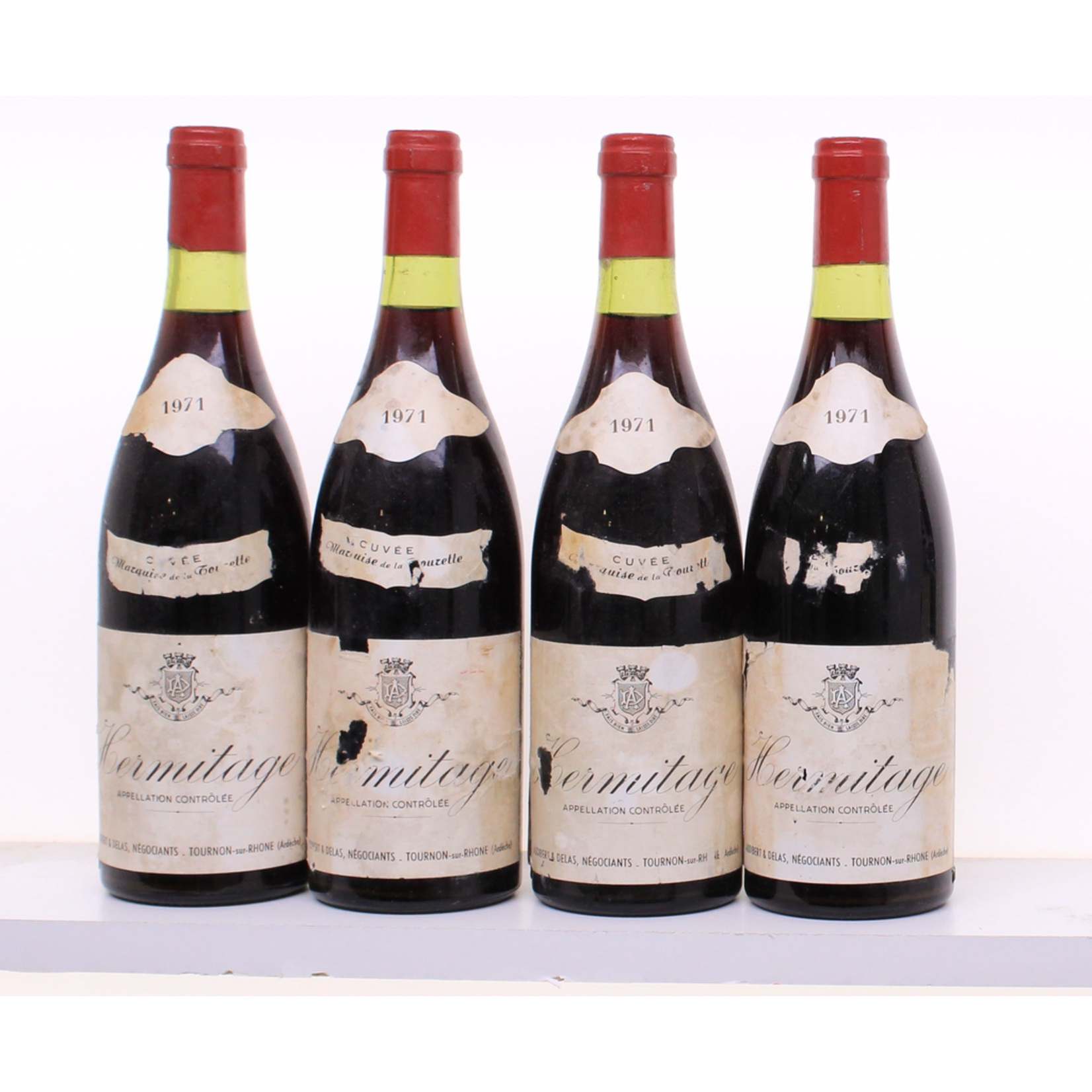 Wine Audibert & Delas Hermitage Cuvee Marquise Tourette 1971