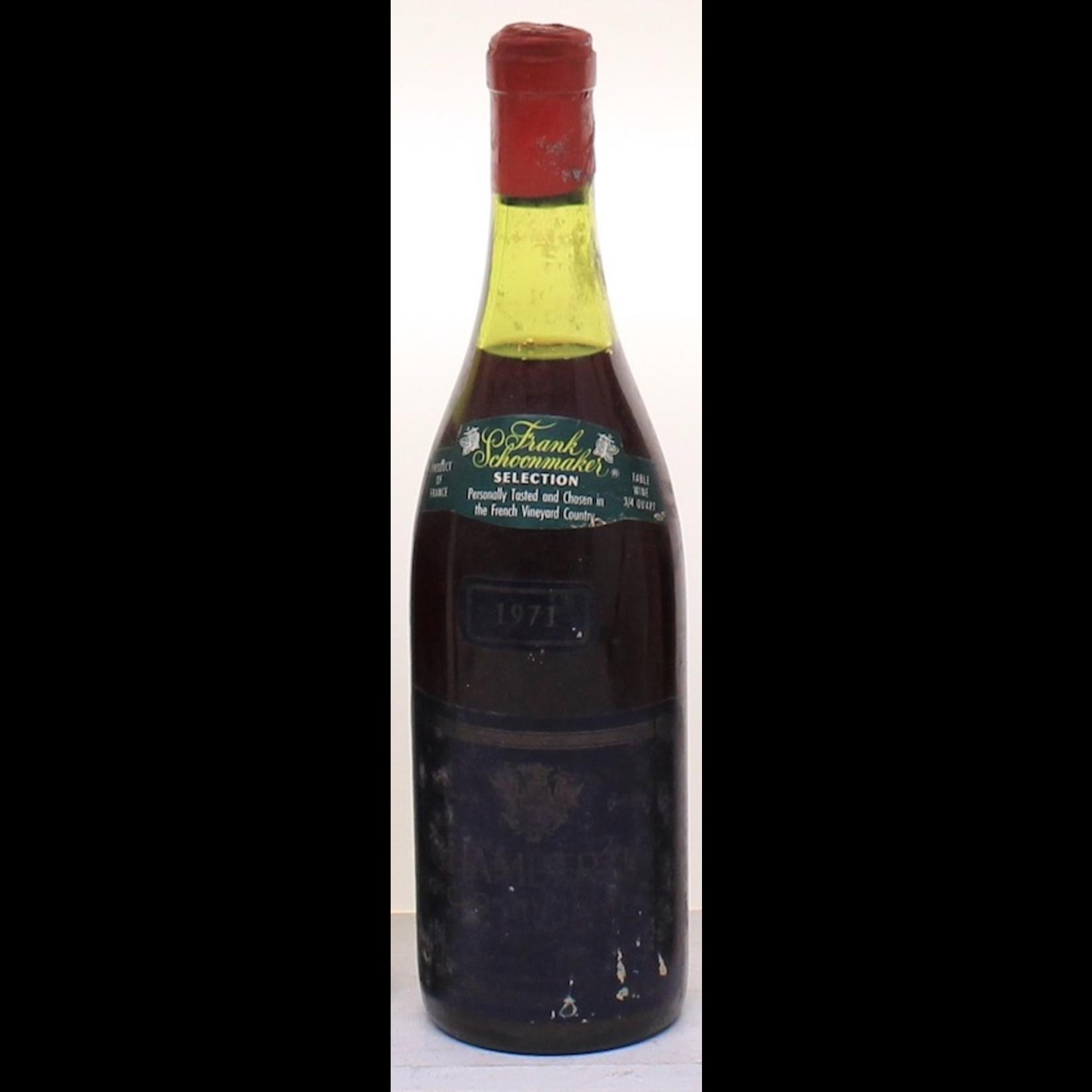 Wine Domaine Pierre Gelin Chambertin Clos de Beze Grand Cru 1971