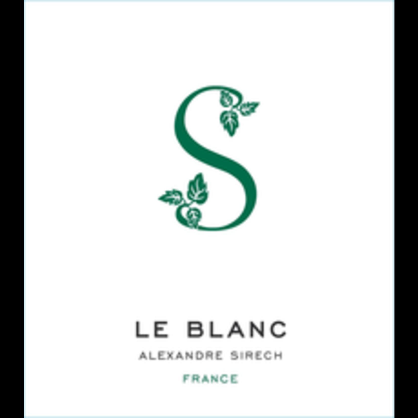 Wine Le Blanc de Alexandre Sirech 2019