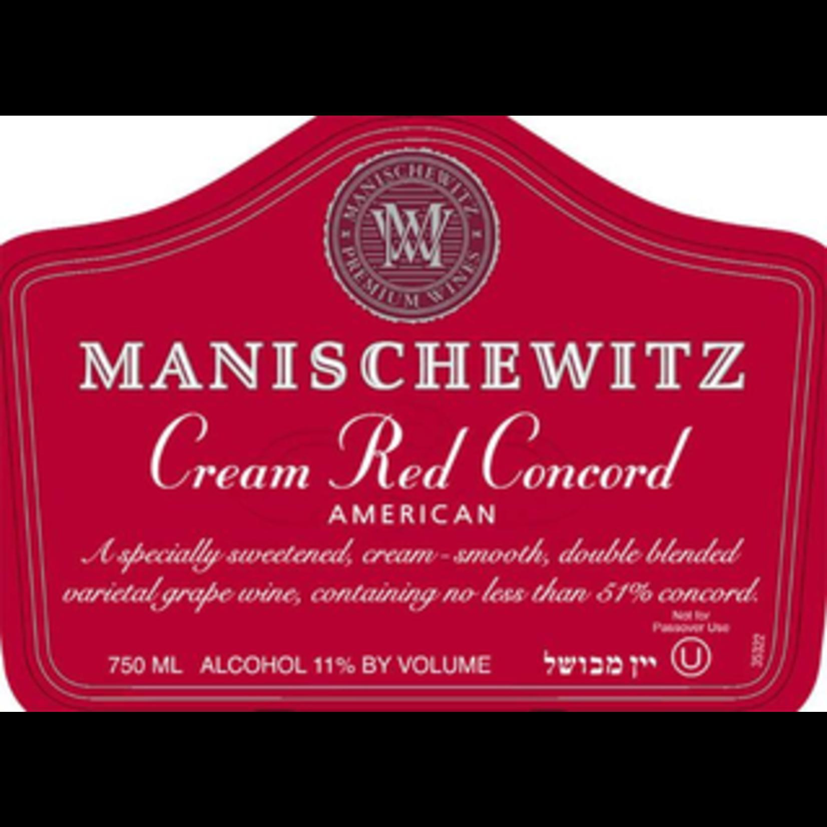 Wine Manischewitz Cream Red Concord Kosher