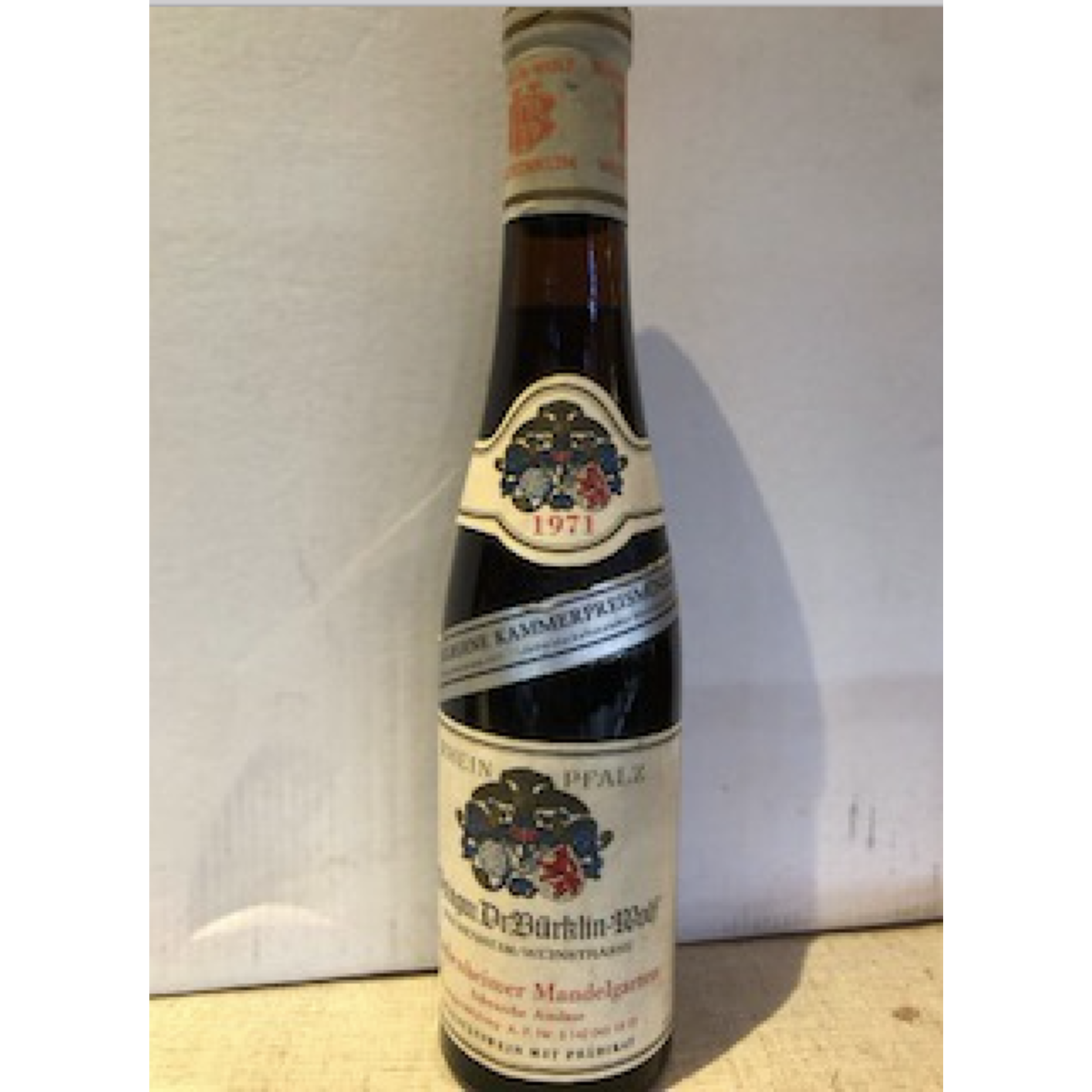 Wine Burklin-Wolf Wachenheimer Scheurebe Auslese 1971 375ml