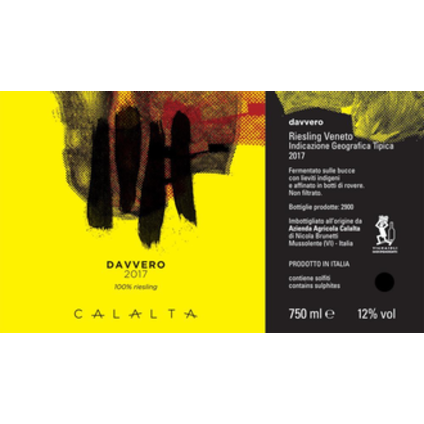 Wine Calalta Davvero Riesling 2019 1.5L