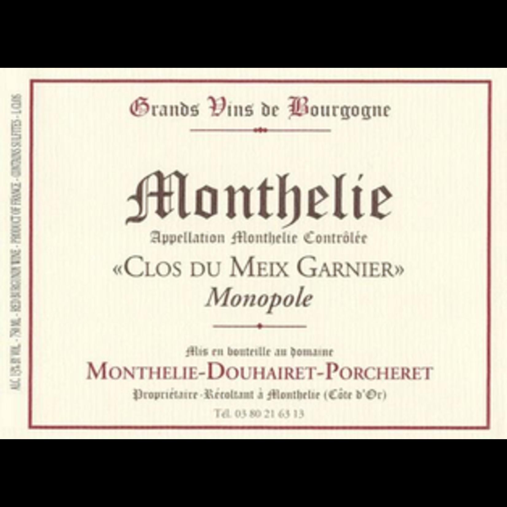 Wine Monthelie Douhairet Porcheret Monthelie Clos du Meix Garnier Monopole 2018