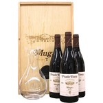 Wine Bodegas Muga Rioja Prado Enea Gran Reserva 2009 3pack owc with decanter
