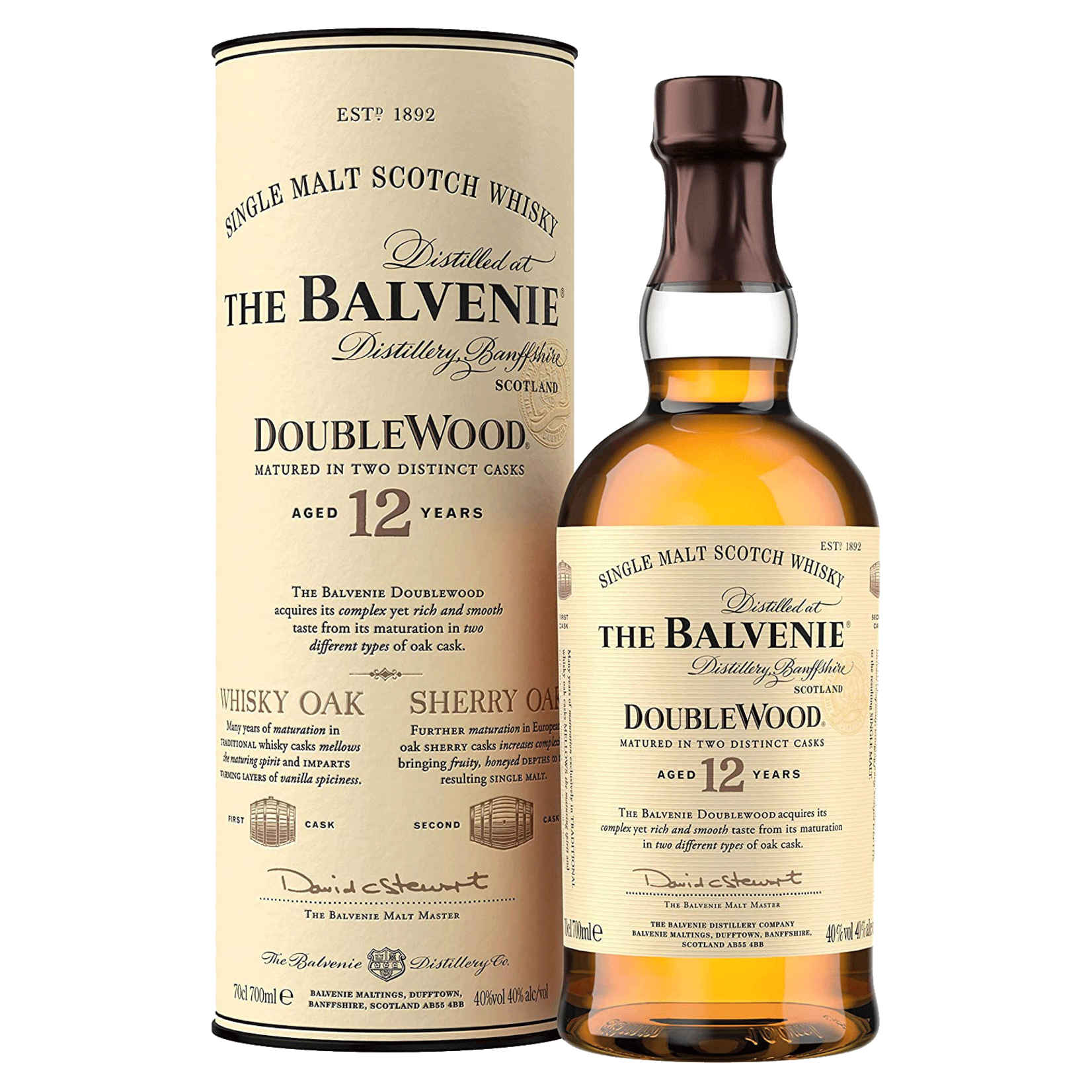 Spirits The Balvenie 12 Year Doublewood Speyside Scotch
