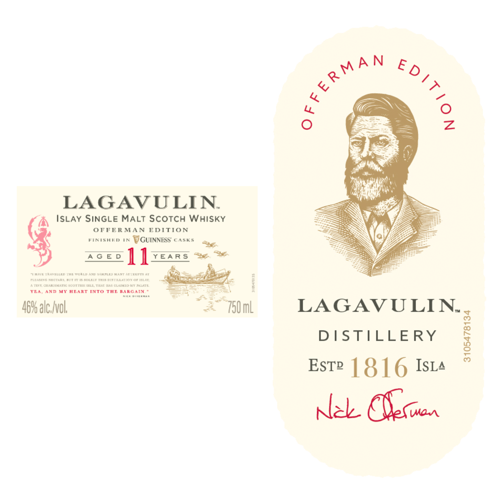Spirits Lagavulin 11 Year Single Malt  Islay Finished in Guinness Casks Offerman Limited Edition
