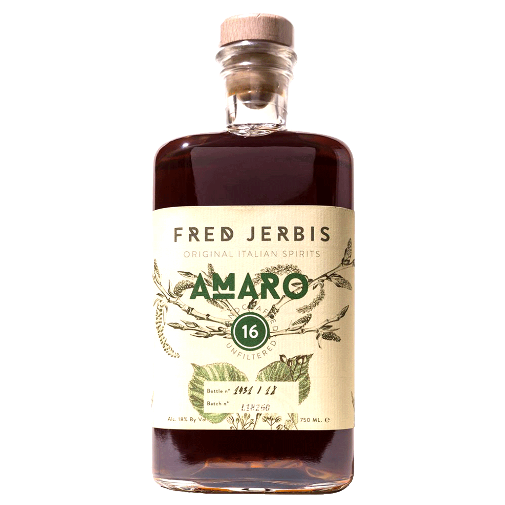 Spirits Fred Jerbis Amaro 16 Liqueur