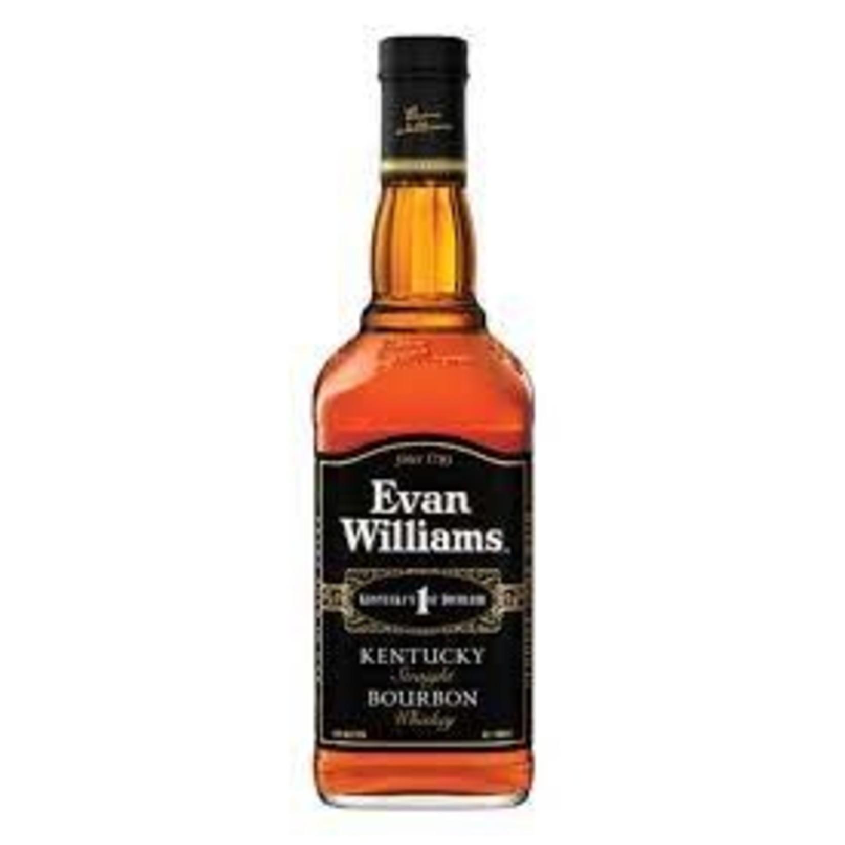 Spirits Evan Williams Straight Bourbon Black Label 86