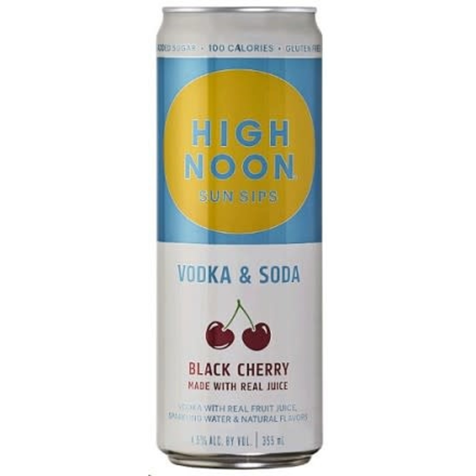 Spirits High Noon Sun Sips Vodka & Soda Black Cherry 355 ml Cans