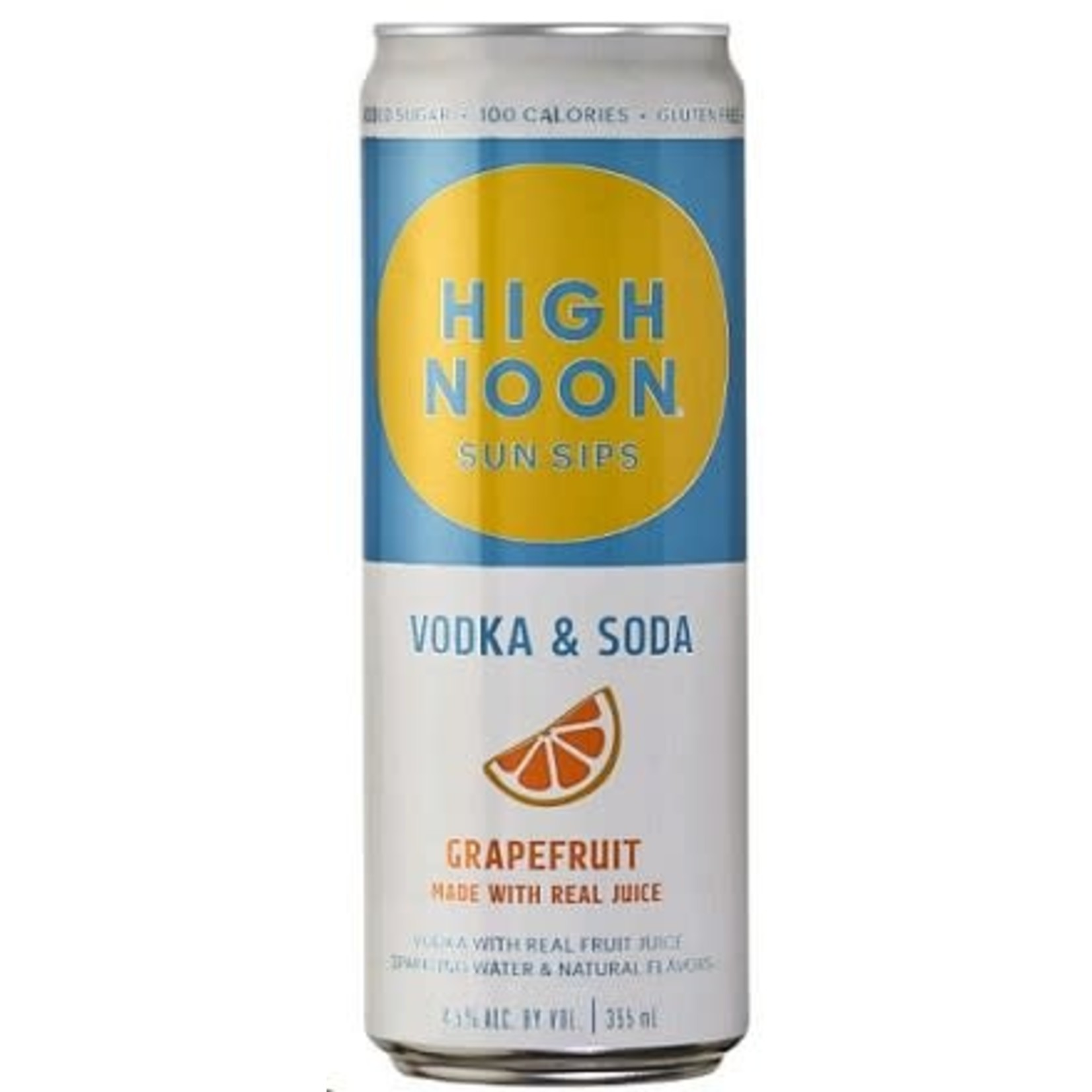 Spirits High Noon Sun Sips Vodka & Soda Grapefruit 355ml Cans