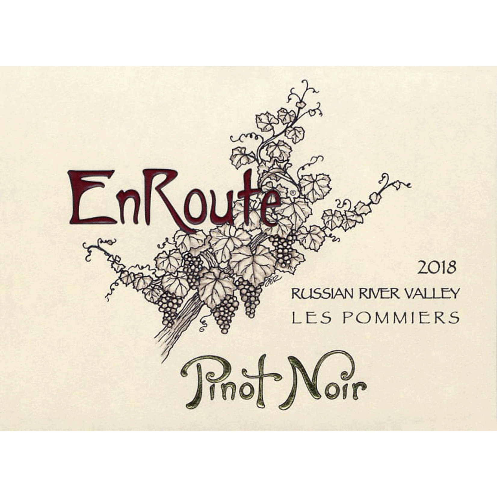 Wine EnRoute Russian River Valley Pinot Noir Les Pommiers 2018